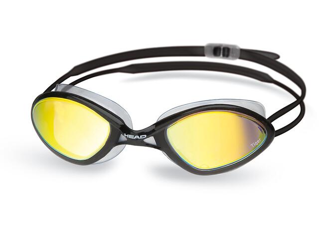 Head Tiger Race duikbrillen Mirrored LiquidSkin zwart